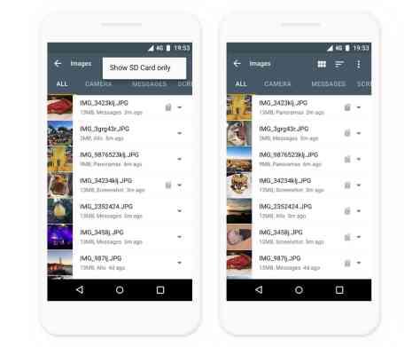 Google Files Go app update features