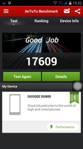 Doogee DG800 Antutu