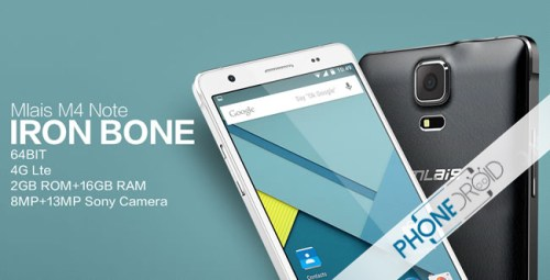 Mlais M4 Note: Android 5.0 Smartphone 64Bit 4G