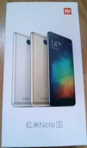 boîte Xiaomi Redmi Note 3