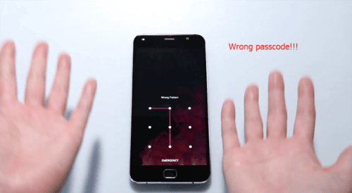 UMI Touch : et si on oublie son code ?