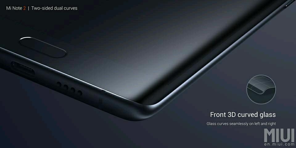 Xiaomi Mi Note 2 officiel : Snapdragon 821, écran incurvé et full fréquences 4G !