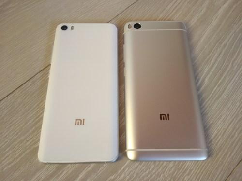 Mi5 à gauche, Mi5S à droite