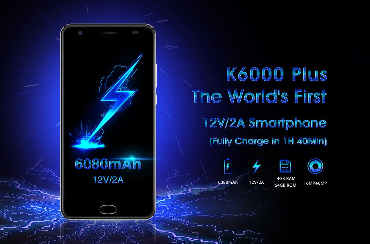 Oukitel K6000 Plus : grosse batterie et charge très très rapide