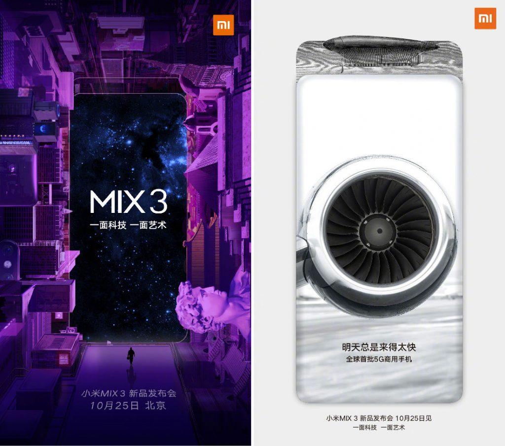 Xiaomi Mi Mix 3: atterrissage programmé le 25 octobre!