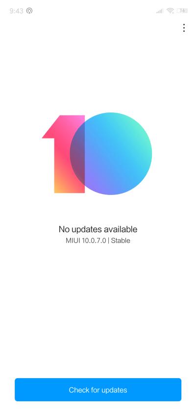 MIUI 10.0.7.0 sur le Xiaomi MI 8 Lite