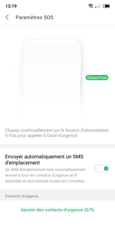Mode SOS