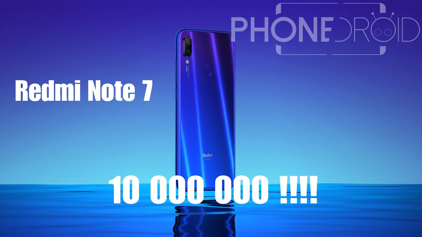 Redmi Note 7 : des chiffres de ventes spectaculaires
