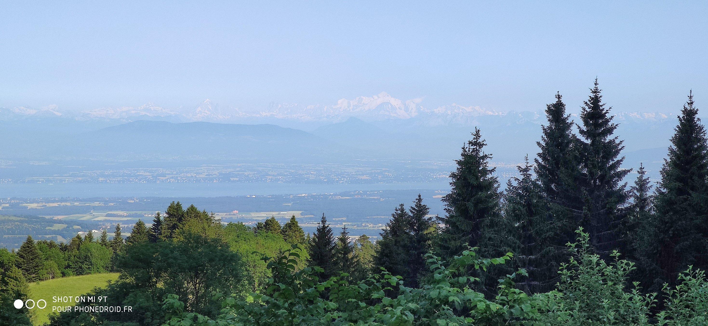 Mont Blanc avec zoom