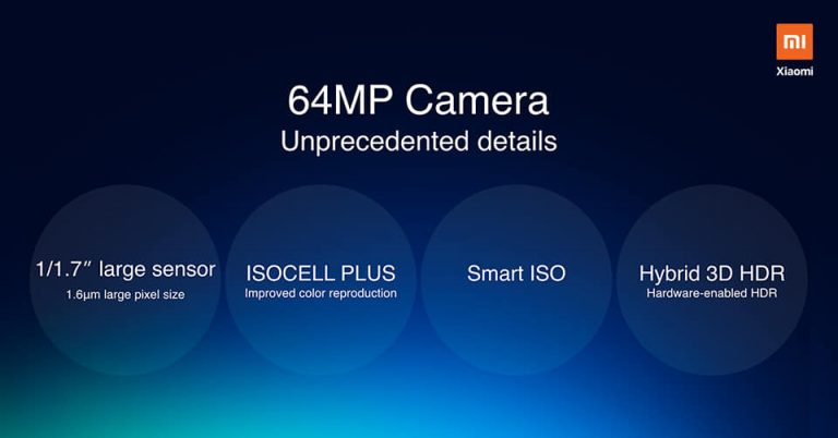 Redmi : présentation de l'objectif 64Mpx