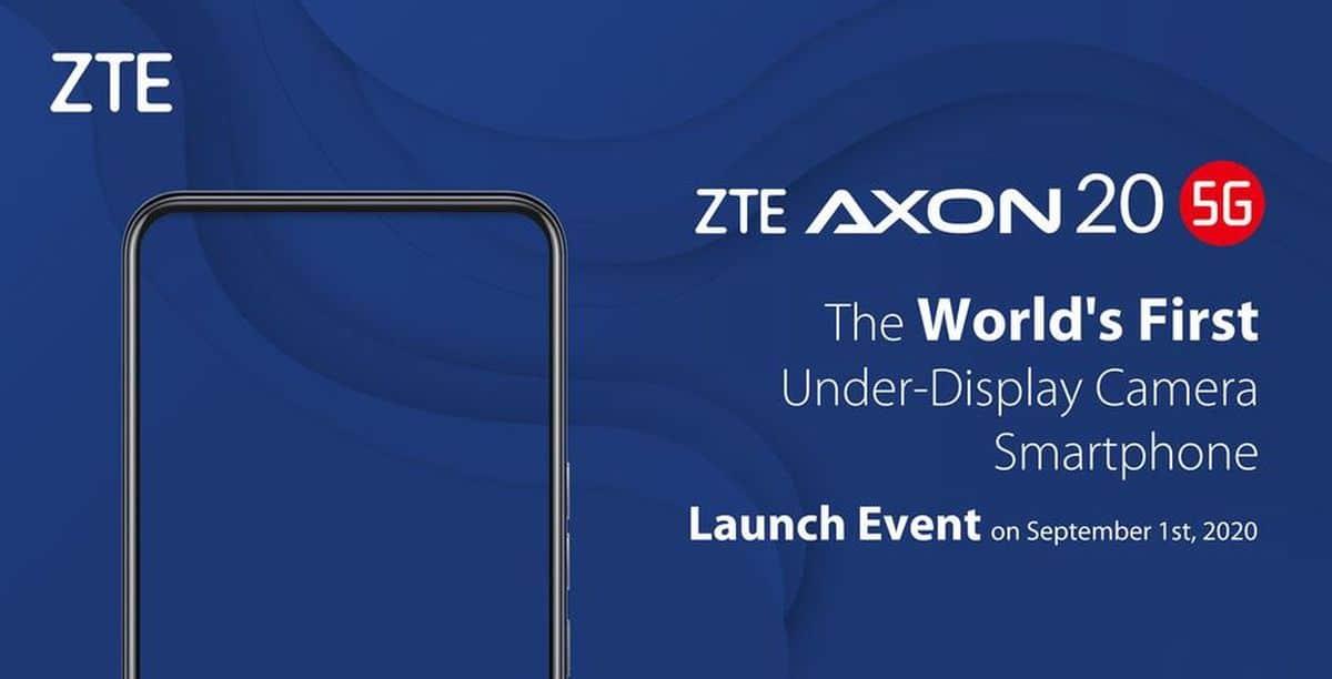 ZTE Axon 20 5G : premier smartphone avec une caméra sous l'écran