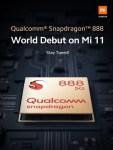 Xiaomi Mi 11 : premier smartphone avec un Snapdragon 888
