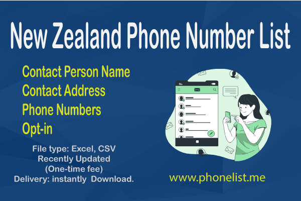 New Zealand Phone Number List