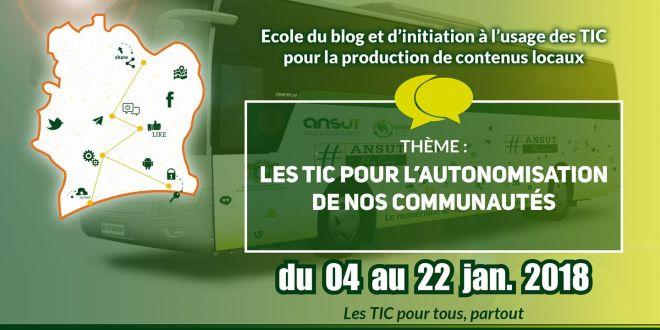 ANSUT Blog Camp : Le numérique à l'assaut de l'intérieur de la Cote d'Ivoire