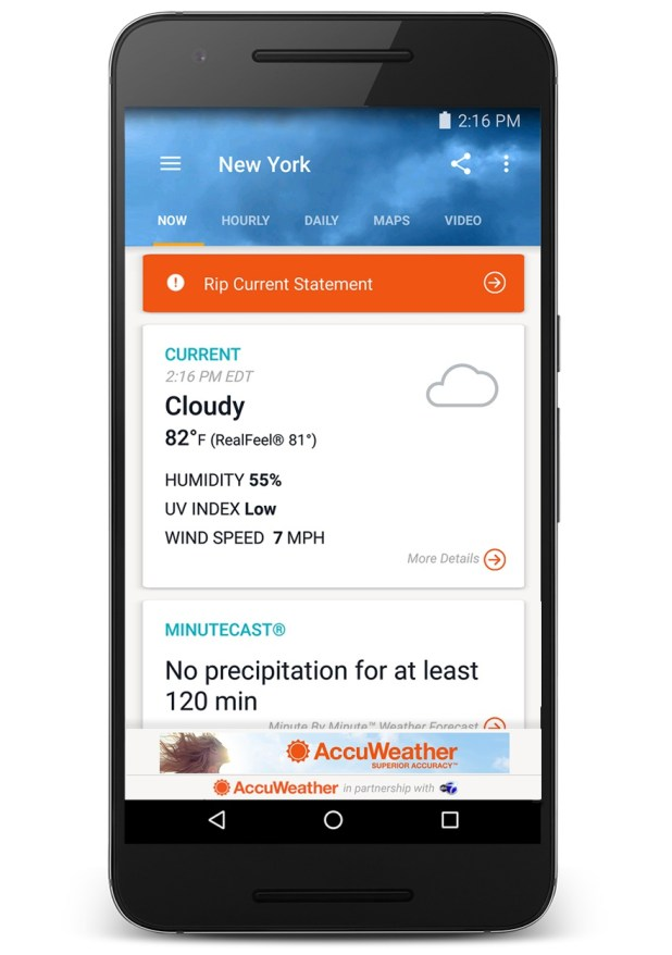 Android AccuWeather