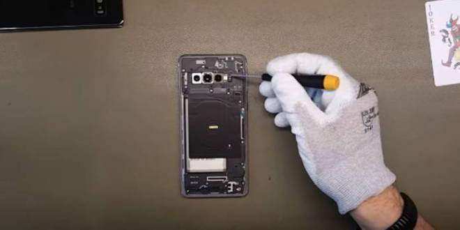 Samsung : Une caméra sous l'écran sans trou en approche