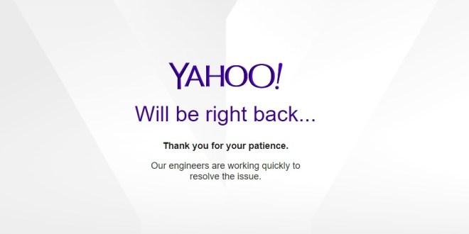 Grosse panne mondiale chez Yahoo ce 5 septembre 2019