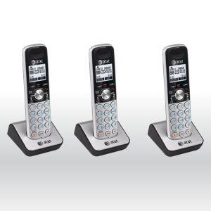 3 x AT&T TL88002 DECT 6.0 2 Line Accessory Handset for TL88102, TL88202 bg