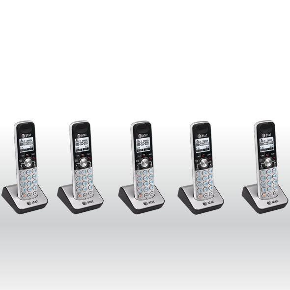 5 x AT&T TL88002 DECT 6.0 2 Line Accessory Handset for TL88102, TL88202 bg