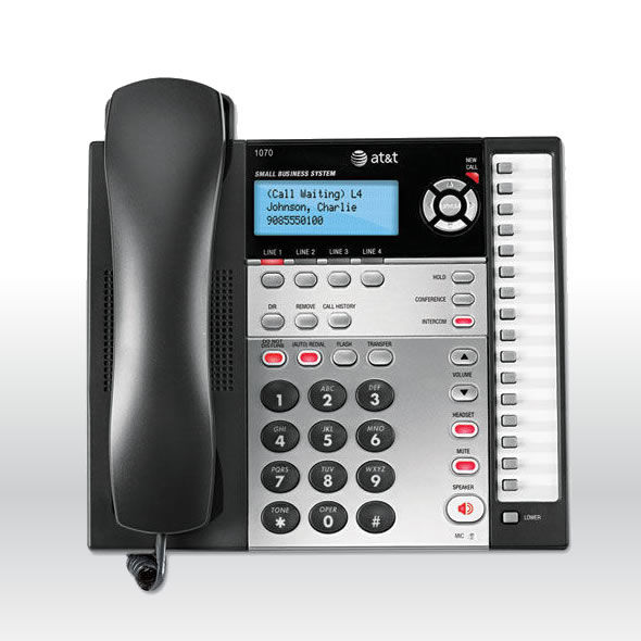 AT&T 1070 4 Line Office Business Intercom Paging Call Transfer Phone 1040 1080 bg