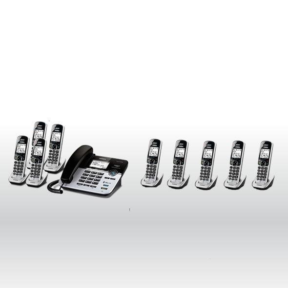 Uniden D1789-9BTABB DECT 6.0 Cordless Phone w 9 Cordless Handsets - D1789-4BT