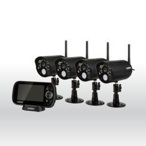 Uniden UDR444 Digital Wireless 4.3″ Video Surveillance 4 Camera Security System
