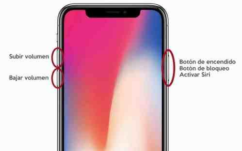 Botones iPhone X