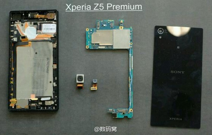 Sony Xperia Z5 Premium teardown reveals a dual heat pipe