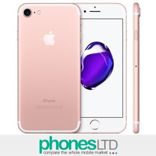 Compare Apple iPhone 7 128GB Rose Gold Tesco Mobile Deals - Phones LTD 0607f636df1