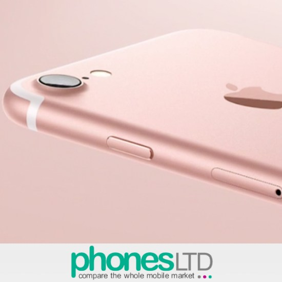 superior quality ac595 17185 Cheapest Apple iPhone 7 256GB Rose Gold Voda 500 + Unlimited + 500MB at £15  (24) prices - Phones LTD