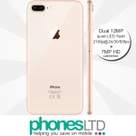 iPhone 8 Plus 256GB Gold contract deals