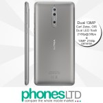 Nokia 8 64GB Steel Silver contract deals