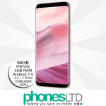Samsung Galaxy S8 64GB Rose Pink Gold upgrade deals