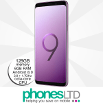 Samsung Galaxy S9+ (S9 Plus) 128GB Lilac Purple upgrades