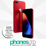 iPhone 8 Plus 64GB (PRODUCT) RED upgrades