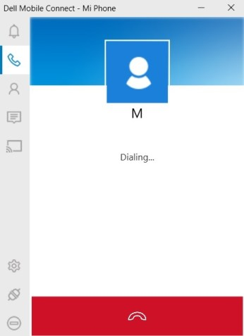 How to use Dell Mobile Connect app to make calls from