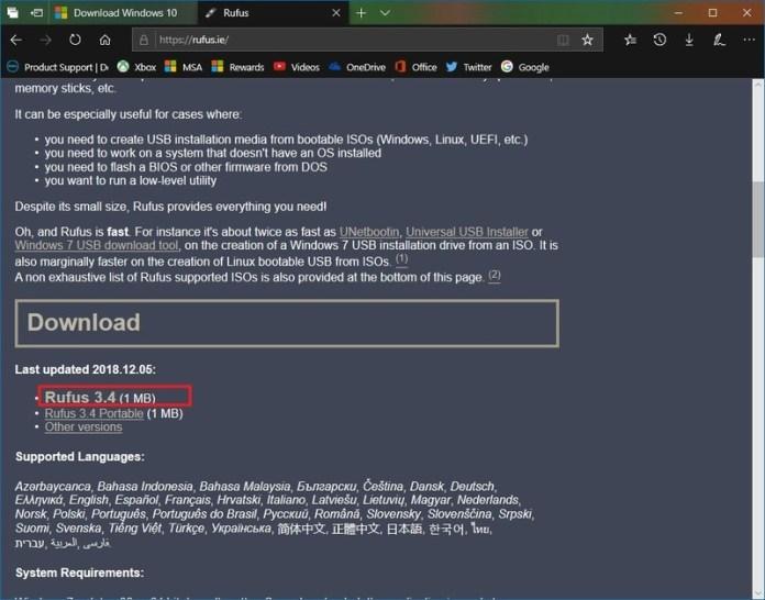 create install media windows 10
