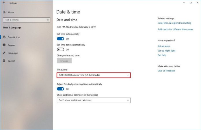 How to change time zone settings on Windows 10 - Phoneweek