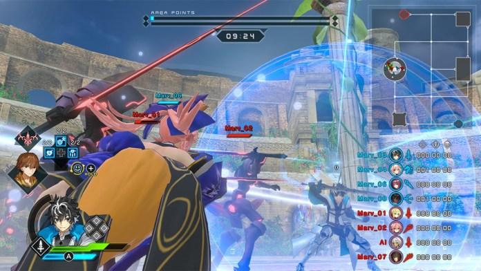 Fate/EXTELLA LINK combat screen