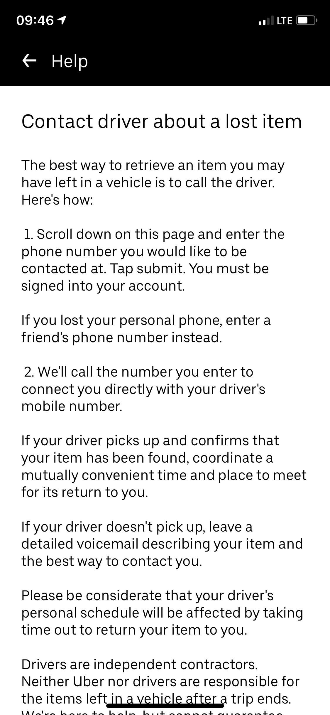 How to call uber if you lost your phone