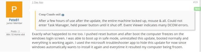 Windows 10 cumulative updates reportedly causing system