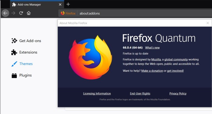 Firefox 66 0 4 released with fix for bug that disabled add