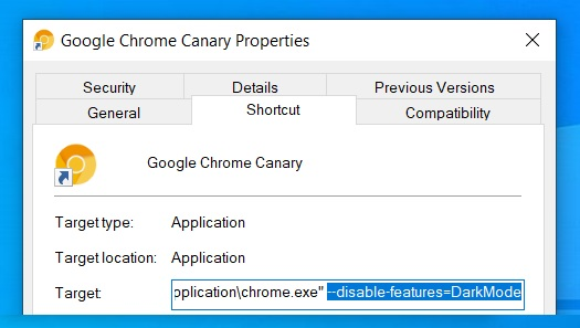 How to disable Chrome dark mode without changing Windows 10