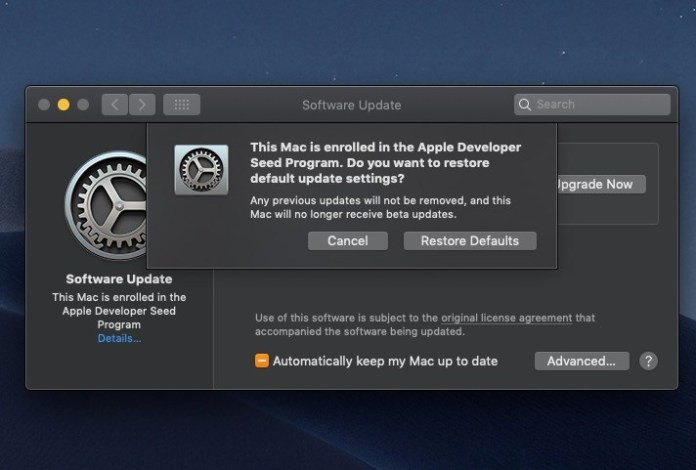 leave the macOS Catalina beta after you install to another partition.