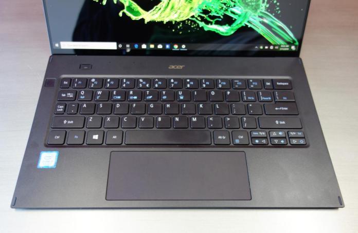 Acer Swift 7 July 2019 keyboard