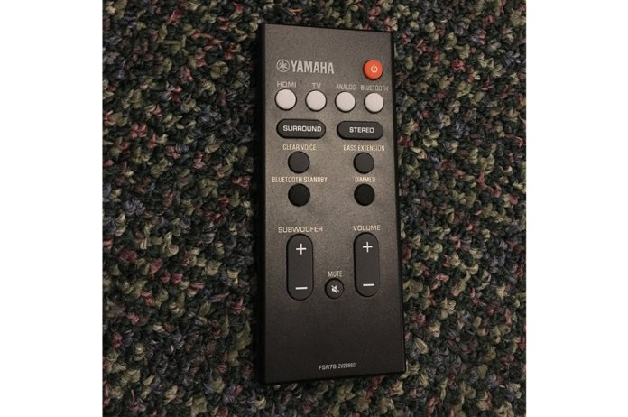 The remote is clearly organized and you can easily find buttons in dimly lit rooms or without lookin