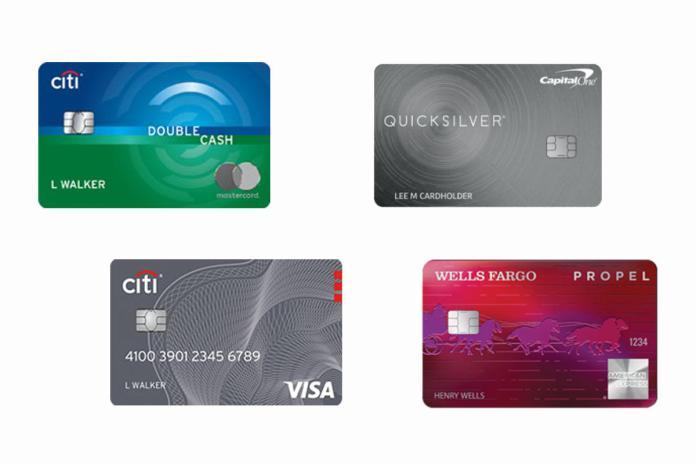 cash back credit card collage
