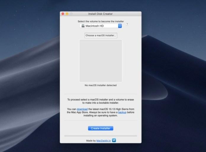 Make a macOS Mojave installer.