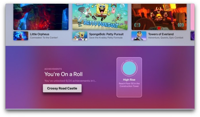 tvOS 14 Arcade App Achievements