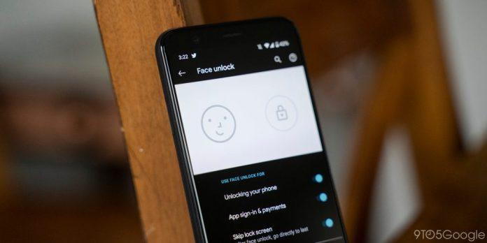 pixel 4 face unlock settings